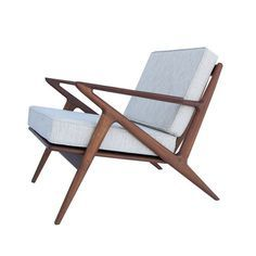 Beautiful lines on this Palm Springs Lounge Chair | $700 from Dot and Bo. #mcm #chair #spon #teak