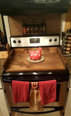 Stove Top Cover by OldeStoneHome on Etsy