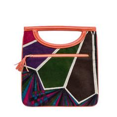 1960s Rare Emilio Pucci by Jana Vintage Handbag Mod Geometric OpArt Rare Bag | From a collection of rare vintage novelty bags at https://www.1stdibs.com/fashion/handbags-purses-bags/novelty-bags/