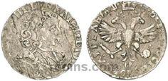 Шестак 1707 года Шестак 1707 года  Материал чеканки монеты: Серебро(Ag) Вес монеты: 3,17-3,67 г Гурт: гладкий Разновидность: Без инициалов минцмейстера. Редкость по каталогу Биткина: (R4) Состояние данного экземпляра: VF(VeryFine)-XF(ExtraFine) Стоимость монеты Шестак 1707 года:   85500 USD Стоимость монеты по металлу составляет 118 р по ценам на 26.01.2016