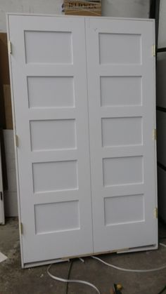 Shaker 5 Panel Closet Doors Closet Doors, Garage Doors, Interior Doors, Old Houses, Basement, Dresser, Outdoor Decor, Furniture, Home Decor