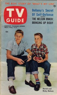 """David and Ricky Nelson of """"The Adventures of Ozzie and Harriet""""  May 15-21 1953"""