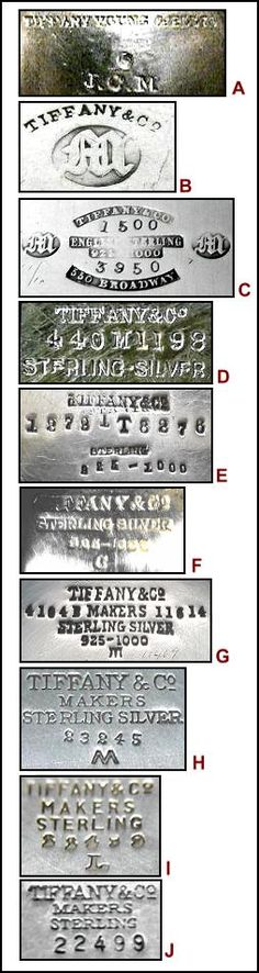 Tiffany Silver Marks & Dates ~ Encyclopedia of Silver Marks, Hallmarks & Makers' Marks