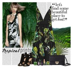 """Tropics"" by polybaby ❤ liked on Polyvore featuring Proenza Schouler, Jimmy Choo, OPI, NARS Cosmetics, MAC Cosmetics, tropicalprints and hottropics"