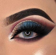Smoke Eye Makeup, Purple Eye Makeup, Eye Makeup Steps, Eye Makeup Art, Makeup Set, Makeup For Brown Eyes, Eyeshadow Makeup, Makeup Brushes, Eyeliner