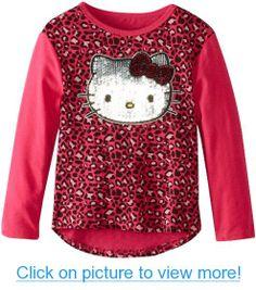 Hello Kitty Girls 2-6X Leopard Long Sleeve Shirt