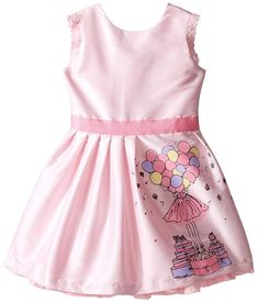 6b68b94a9 fiveloaves twofish Birthday Balloon Dress (Toddler/Little Kids/Big Kids)  Girl's Dress Pink