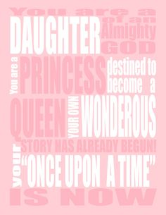 Pink Princess INSPIRATIONAL QUOTE  You are a by Lexiphilia on Etsy, $12.00