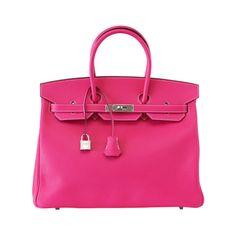 HERMES BIRKIN 35 Limited Edition Candy  Rose Tyrien Palladium Epsom leather