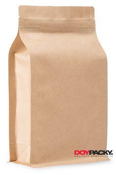 3-vrstvý boxpack sáček - exkluzivní sáček s plochým dnem. Materiál KRAFT/PET/PE s bočním okénkem. Zip, Drinks, Products, Drinking, Beverages, Drink, Beverage, Beauty Products, Cocktails