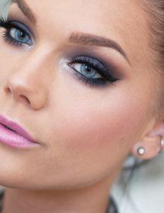 Oogschaduw blauwe ogen - Blauw - Visagiste Joyce van Dam