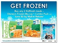 FROZEN Mail in Rebate Form – Save $5 With Kidfresh Purchase #FrozenKidfresh