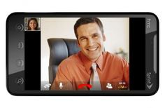 This is a stock photo for Androids video chat feature, showing that Android has also gotten a piece of the video chatting pie in terms of new technology, as to not fall behind