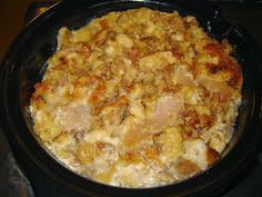 Tales From A Middle Class Kitchen: Slow Cooker Caramel Apple Pie Bread Pudding