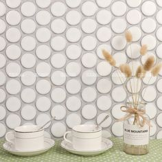 Amazing!! stunning 48mm cookies circle mosaics design with crystal glazed process and available in 6 beautiful tones.  #pennyroundtiles #tiles #mosaic #mosaicart #walltiles #walldecor #ihavethingsforwalls #homeimprovement #homedecor #homedesigns #interiordesign #designsponge #tilesinspiration #tilepic #tileaddiction #interiordecor #mozaik #mozaic #renovating #tiles2019 #designertiles #tiletrends2019 #lovetiles #uniquetiles #featuretiles #decorativetiles #porcelaintiles#moderndesign