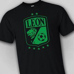Club Leon T Shirt Black Mexico Futbol Soccer Liga MX La Fiera Guanajuato  Campeon… Guanajuato bf2fc89f6