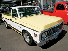 71 Yellow Chevy Truck
