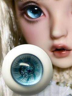 14mm  For BJD DOD AOD MK OK RD Doll Dollfie Glass Eyes Outfit drak grey 26