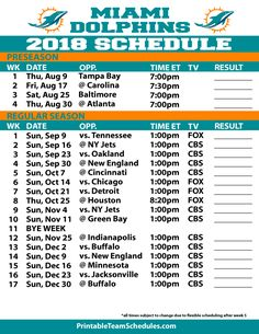 image relating to Miami Dolphins Printable Schedule referred to as A.D. Dukes IV (addukesiv) upon Pinterest