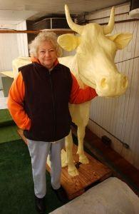 """Butter sculptor Norma """"Duffy"""" Lyon"""