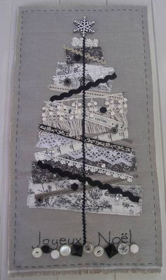 Pattern for vintage scrap fabric Christmas Tree.