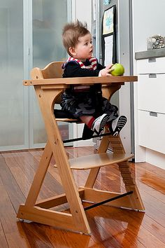 Mocka Original Highchair - quality wooden highchair designed to grow with your child. Sturdy safe and long lasting highchair. Free New Zealand delivery  sc 1 st  Pinterest & stokke: trendy swedish baby high chair | Baby | Pinterest | High ...