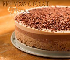 Rich Vegan Chocolate Tiramisu #vegan #dessert SOulFreshtheblog.com