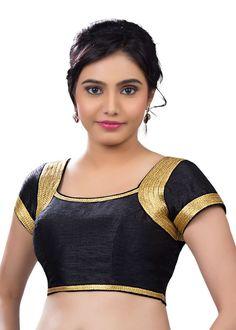 Gorgeous Black Silk Party-Wear Sari Blouse SNT-X-257-SL