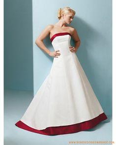 Robe en satin simple sans décoration robe de mariée simple à Angers
