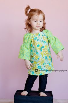 Little Girl's Peasant Dress 12mo 4T by vintagetwilight on Etsy