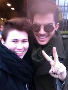 01/28/15 - selinaglambert on IG I met my Idol @ adamlambert OMG did this really happen?! OMG. OMG. I'm still crying, he hugged me.  He's so nice. :O Tomorrow's the concert. OMFG. CAN'T BELIEVE WHAT'S GOIN' ON IN MY LIFE