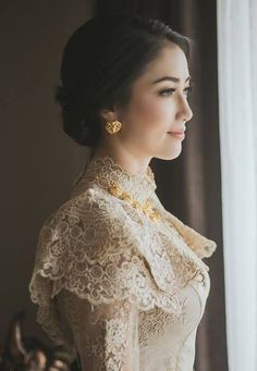 10 Stunning Dresses for Non-Traditional Brides Thai Wedding Dress, Khmer Wedding, Wedding Dresses, Kebaya Wedding, Kebaya Lace, Kebaya Dress, Thai Traditional Dress, Traditional Outfits, Couture Dresses