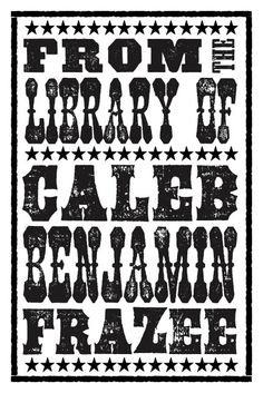 Custom Book Label Rubber Stamp w/Vintage Feel  by Inkorporated