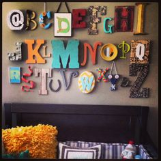 Alphabet wall for Jack's playroom
