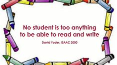 """Too often """"literacy"""" tasks for special education only mean sight words. Yet, everyone can learn to read, given the right instructional tasks and methodologies. Monday Motivation Quotes, Monday Quotes, Motivational Monday, Assistive Technology, Educational Technology, Sight Words, Learn To Read, Education Quotes, Speech Therapy"""