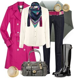 Outfits de Moda ...Me Tomo Cinco Minutos: DIAS DE LLUVIA