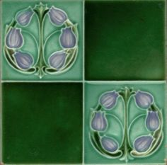 English Art Nouveau Tile by Maw Co | eBay