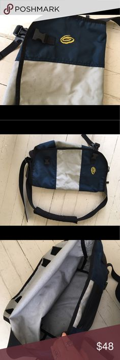 Large Timbuk2 messenger bag Bike or school bag. Will hold laptops really well! Condition pictured. Navy blue and silver. Crossbody, messenger. Timbuk2 brand. Poler Bags
