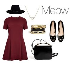 """Meow"" by leah-thomas-i on Polyvore featuring Banana Republic, River Island, Givenchy, Zimmermann, Charlotte Olympia and GUESS"