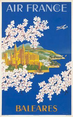 Lucien Boucher poster: Air France - Baleares (small)