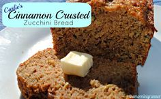 Cinnamon Crusted Zucchini Bread. A healthy and delicious recipe. Try our oil/butter free recipe today! #themorningrunner #applesaucezucchinibread #healthyrecipe