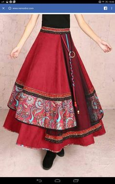 Ideas for skirt design fashion dresses - Fashion - Jupe Modest Outfits, Skirt Outfits, Dress Skirt, Trendy Outfits, Bohemian Skirt, Boho Skirts, Indian Dresses, Indian Outfits, Costume Ethnique
