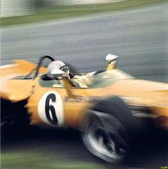 The only one of its kind, the radical McLaren front wing made it through just one practice session ahead of the 1969 Monaco Grand Prix before the officials deemed it illegal. Le Mans, Ferrari Dino 246, Mclaren Formula 1, Bruce Mclaren, Mclaren Cars, British Grand Prix, Mc Laren, Indy Cars, F1 Racing
