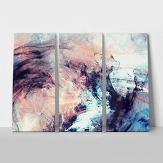 Dark Couch, Triptych, Sweet Home, Tapestry, Canvas Prints, Abstract Art, Painting, Color, Home Decor