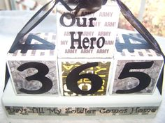 Army Deployment 365/180 Countdown Blocks by signsandsuch on Etsy, $17.00