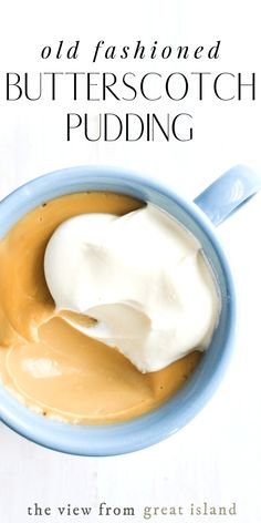 Old Fashioned Butterscotch Pudding is a real deal comforting dessert, made quick and easy on the stove, no box mix. Tip: it's fabulous warm from the pan! easy 3 ingredients easy for a crowd easy healthy easy party easy quick easy simple Pudding Desserts, Pudding Recipes, Dessert Recipes, Just Desserts, Delicious Desserts, Party Desserts, Healthy Desserts, Quick Puddings, Custard Pudding