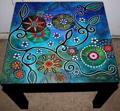 Stool covered with ornaments