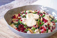gezonde rauwe bloemkool salade met asperge