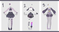 [Auction][CLOSED Outfit Batch 6 by hito-chan19.deviantart.com on @DeviantArt