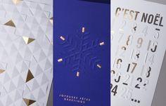 Creanog - Carte noël gaufrage / marquage à chaud Carterie et papeterie en vente au Bon Marché, Paris.